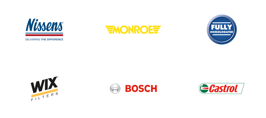 Logoer for Nissens, Monroe, Fully Homologated, Wix Filters, Bosch og Castrol